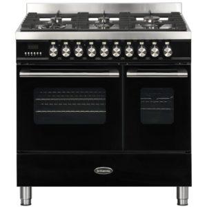 Britannia RC-9TG-DE-K 90cm Delphi Dual Fuel Twin Oven Range Cooker – BLACK
