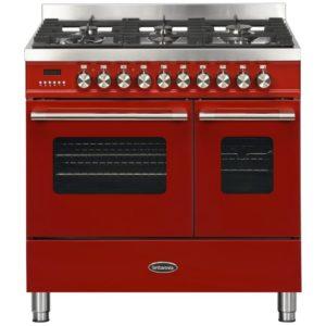 Britannia RC-9TG-DE-RED 90cm Delphi Dual Fuel Twin Oven Range Cooker – RED