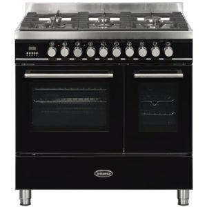 Britannia RC-9TG-QL-K 90cm Q Line Dual Fuel Twin Oven Range Cooker – BLACK