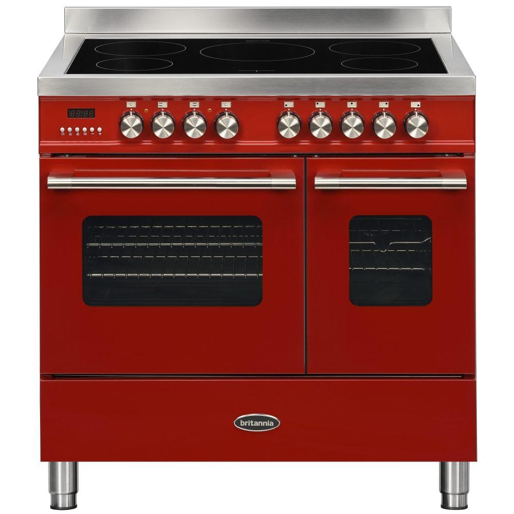 Britannia RC-9TI-DE-RED 90cm Delphi Induction Twin Oven Range Cooker - RED