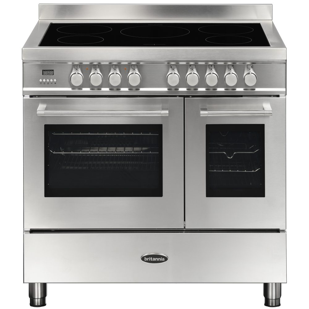 Britannia RC-9TI-QL-S 90cm Q Line Induction Twin Oven Range Cooker - STAINLESS STEEL