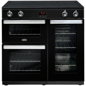 Belling COOKCENTRE 90EIBLK 4080 90cm Induction Range Cooker – BLACK