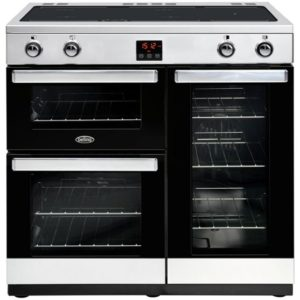 Falcon F900DXEIBL/C 900 Deluxe Electric Induction Range Cooker – BLACK