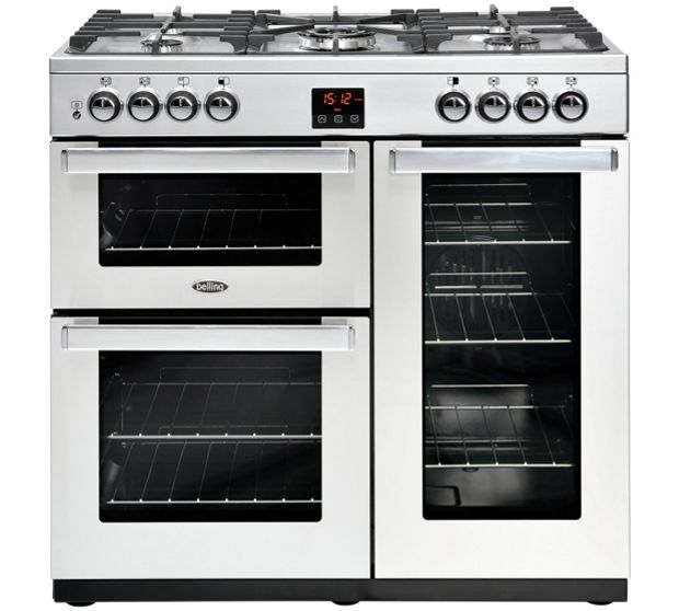 Belling COOKCENTRE 90GPROFSTA 4075 90cm Gas Range Cooker - STAINLESS STEEL