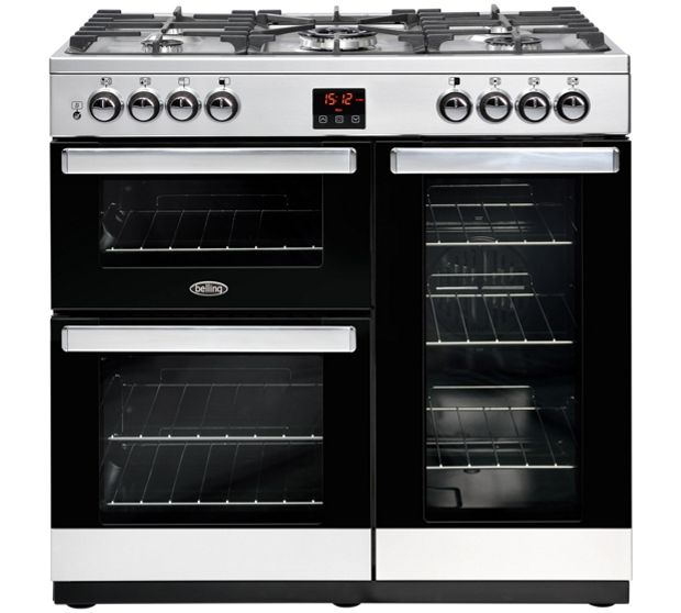 Belling COOKCENTRE 90GSTA 4076 90cm Gas Range Cooker - STAINLESS STEEL