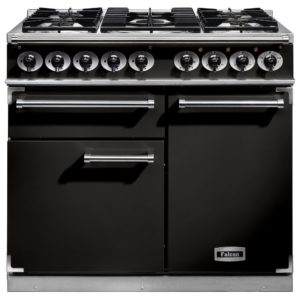 Falcon F1000DXDFBL/CM F1000 Deluxe Dual Fuel Range Cooker – BLACK