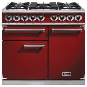 Falcon F1000DXDFRD/NM F1000 Deluxe Dual Fuel Range Cooker – RED