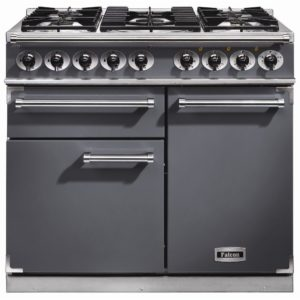 Falcon F1000DXDFSL/NM F1000 Deluxe Dual Fuel Range Cooker – SLATE