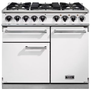 Falcon F1000DXDFWH/NM F1000 Deluxe Dual Fuel Range Cooker – WHITE