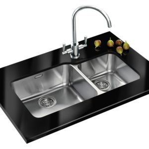 Franke LARGO LAX120 45-30 RHSB Largo 1.5 Undermount Sink Right Hand Small Bowl – STAINLESS STEEL