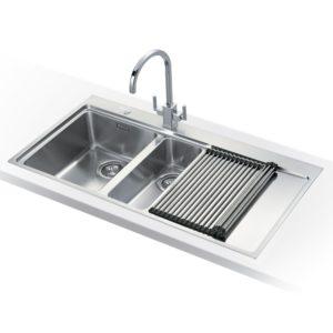 Franke MYTHOS SLIM-TOP MMX251 RHD Mythos 1.5 Bowl Sink Right Hand Drainer – STAINLESS STEEL