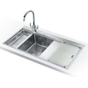 Franke MTG651-100 LHD OY Mythos Fragranite Sink 1.5 Bowl Left Hand Drainer – OYSTER