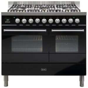 Ilve KD-1006-MP-BLK 100cm Ultimo Dual Fuel Range Cooker – BLACK