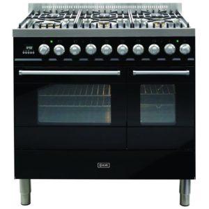 Ilve KD-906-MP-BLK 90cm Ultimo Dual Fuel Range Cooker – BLACK