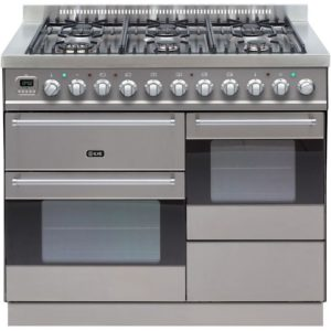 Ilve KT-1006-MP-SS 100cm Ultimo XG Dual Fuel Range Cooker – STAINLESS STEEL