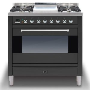 Ilve P-90F-MP-GRA 90cm Moderna Dual Fuel Range Cooker With Fry Top – GRAPHITE