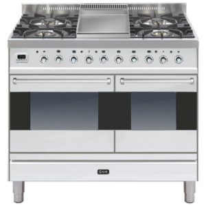 Ilve PD-100F-MP-SS 100cm Moderna Dual Fuel Range Cooker With Fry Top – STAINLESS STEEL