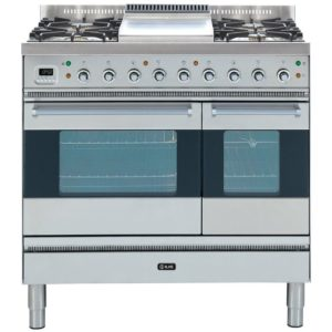 Ilve PD-90F-MP-SS 90cm Moderna Dual Fuel Range Cooker With Fry Top – STAINLESS STEEL