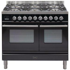 Ilve PDW-1006-E3-BLK 100cm Roma Dual Fuel Range Cooker – BLACK