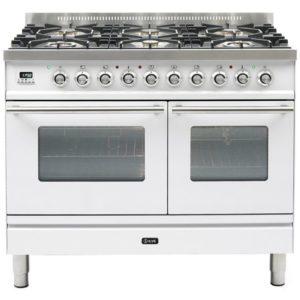 Ilve PDW-1006-E3-WH 100cm Roma Dual Fuel Range Cooker – WHITE