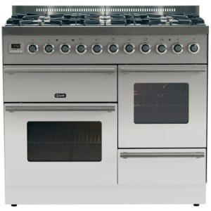 Ilve PTW-1006-E3-SS 100cm Roma XG Dual Fuel Range Cooker – STAINLESS STEEL