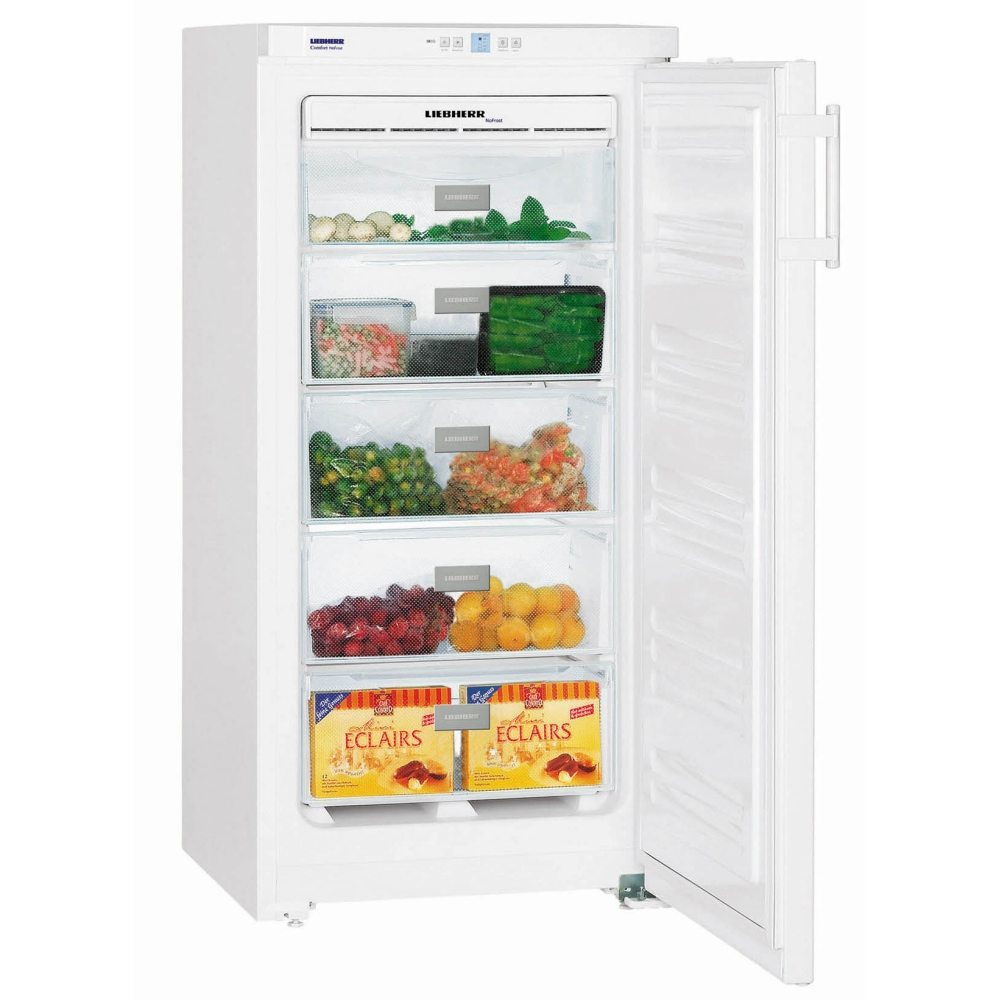 Liebherr GNP1913 Comfort Freestanding NoFrost 149 litre Freezer in White colour with Automatic SuperFrost Function and VarioSpace System, Reversible Door and 60cm Width