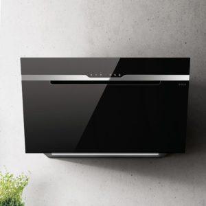 Elica MAJ-SNS-BLK-90 90cm Majestic Sense Designer Chimney Hood – BLACK