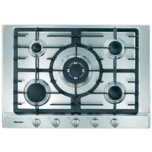 Miele KM2032SS 75cm Five Zone Gas Hob With Wok Burner – STAINLESS STEEL