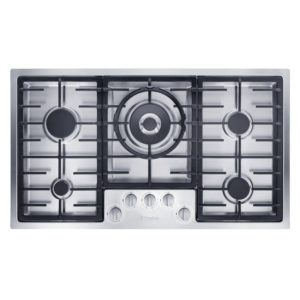 Miele KM2354SS 89cm Low Profile 5 Zone Gas Hob – STAINLESS STEEL
