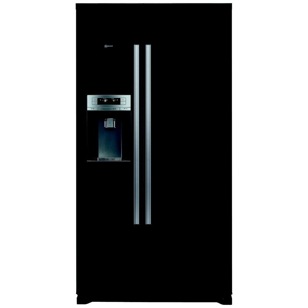 Neff KA3902B20G Side-by-side American Fridge Freezer With Ice & Water Dispenser Black
