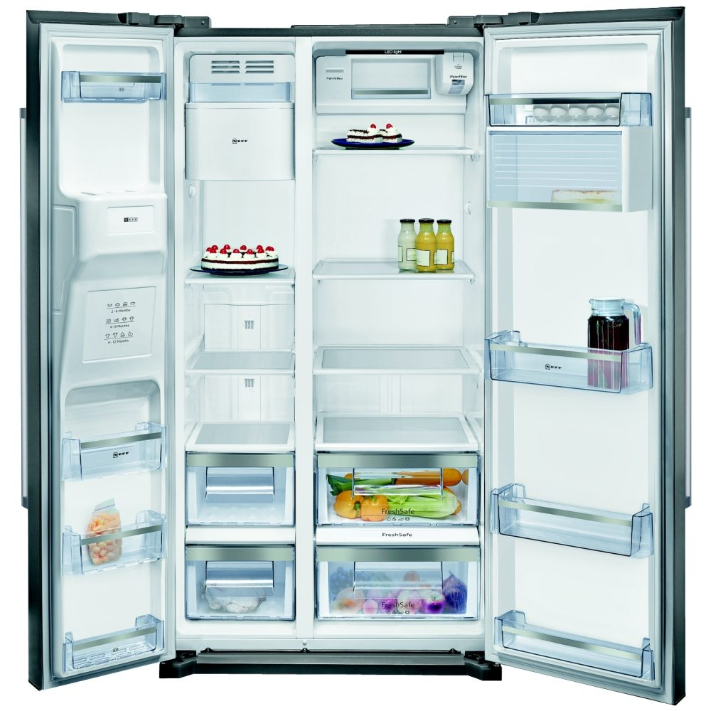 Neff KA3902I20G Side-by-Side American Fridge Freezer With Ice And Water Dispenser Easyclean Stainless Steel