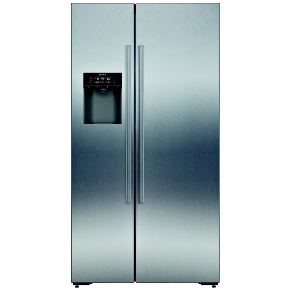 Neff KA3923I20G Side-by-side American Fridge Freezer With Ice & Water Dispenser Fingerprint Free Stainless Steel Doors