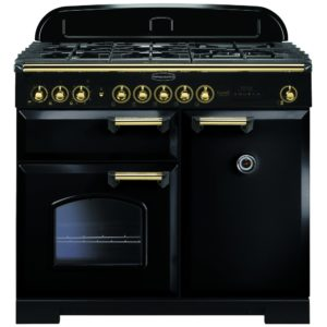 Rangemaster CDL100DFFBL/B Classic Deluxe 100cm Dual Fuel Range Cooker 115540 – BLACK