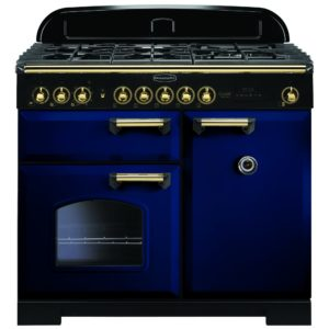 Rangemaster CDL100DFFRB/B Classic Deluxe 100cm Dual Fuel Range Cooker 113840 – BLUE
