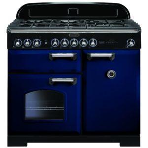 Rangemaster CDL100DFFRB/C Classic Deluxe 100cm Dual Fuel Range Cooker 113830 – BLUE