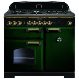 Rangemaster CDL100DFFRG/B Classic Deluxe 100cm Dual Fuel Range Cooker 113820 – RACING GREEN