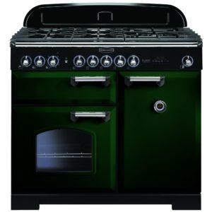 Rangemaster CDL100DFFRG/C Classic Deluxe 100cm Dual Fuel Range Cooker 113810 – RACING GREEN