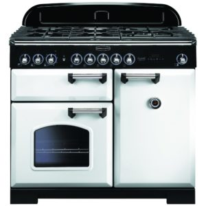 Rangemaster CDL100DFFWH/C Classic Deluxe 100cm Dual Fuel Range Cooker 113850 – WHITE
