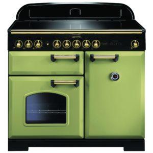 Rangemaster CDL100EIOG/B Classic Deluxe 100cm Induction Range Cooker 114830 – OLIVE GREEN
