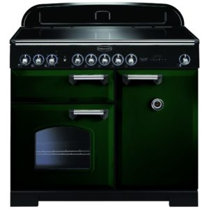 Rangemaster CDL100EIRG/C Classic Deluxe 100cm Induction Range Cooker 113990 – RACING GREEN