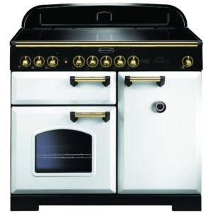 Rangemaster CDL100EIWH/B Classic Deluxe 100cm Induction Range Cooker 114040 – WHITE