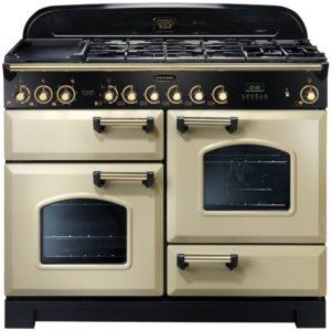 Rangemaster CDL110DFFCR/B Classic Deluxe 110cm Dual Fuel Range Cooker 79810 – CREAM