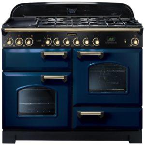 Rangemaster CDL110DFFRB/B Classic Deluxe 110cm Dual Fuel Range Cooker 112920 – BLUE