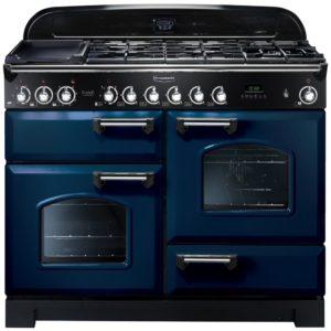 Rangemaster CDL110DFFRB/C Classic Deluxe 110cm Dual Fuel Range Cooker 112910 – BLUE