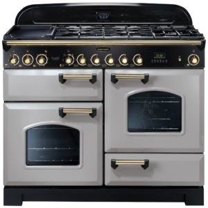 Rangemaster CDL110DFFRP/B Classic Deluxe 110cm Dual Fuel Range Cooker 114480 – ROYAL PEARL