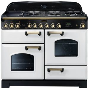 Rangemaster CDL110DFFWH/B Classic Deluxe 110cm Dual Fuel Range Cooker 112940 – WHITE