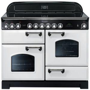 Rangemaster CDL110ECWH/C Classic Deluxe 110cm Ceramic Range Cooker 114150 – WHITE