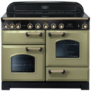 Rangemaster CDL110EIOG/B Classic Deluxe 110cm Induction Range Cooker 114550 – OLIVE GREEN