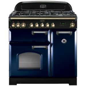 Rangemaster CDL90DFFRB/B Classic Deluxe 90cm Dual Fuel Range Cooker 113540 – BLUE