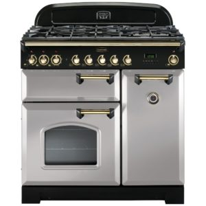 Rangemaster CDL90DFFRP/B Classic Deluxe 90cm Dual Fuel Range Cooker 114640 – ROYAL PEARL